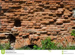 Old Crumbling Brick Wall Stock Image Image Of Macro 32882761