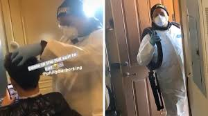 Lamelo ball still gets girls after cutting his hair and lamelo new haircut. Lamelo Ball Gets Haircut From Barber In Hazmat Suit We Had To Be Safe