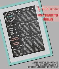 Family Newsletter Template The Simply Crafted Life