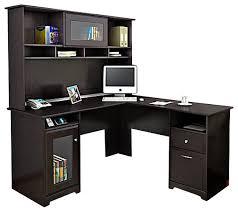 latest l shaped computer desk with hutch bush business furniture bush cabot l shape computer desk