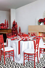 Red and White Christmas Table Decorations