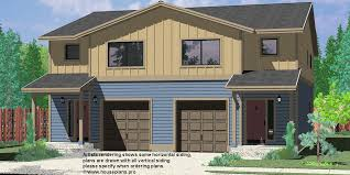 d 598 duplex house plans seattle house plans duplex plans with garage