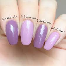 Opi Purple Color Chart Opi One Heckla Of A Colour Vs Purple Palazzo Pants Gelcolor