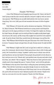 walt whitman essay