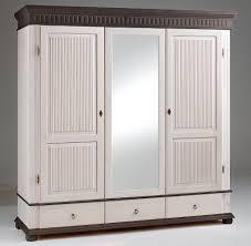 Schlafzimmer Set 5teilig Kiefer Massiv 2farbig Weiß Kolonial