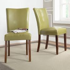 green upholstered dining chairs new these parson estonia olive green side chairs add a dose of