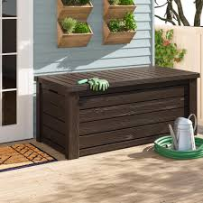 15 outdoor storage benches and sheds