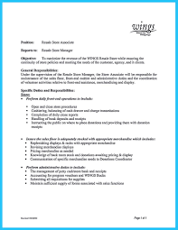 Store Manager Job Description For Resume Awesome You Can Start