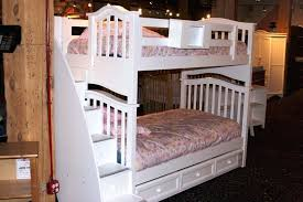 white bunk bed with trundle image of new twin bunk beds with stairs white wooden bunk