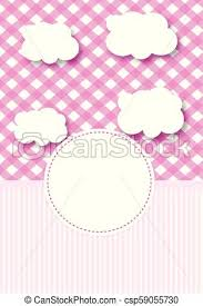 baby postcard baby postcard for girl pink baby metric pattern ready made layout