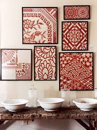 frame fabrics that coordinate with your room for easy and elegant wall art embroidery hoops would also do the trick jp peacocklove on fabric over canvas wall art with love this idea frame fabrics that coordinate with your room for