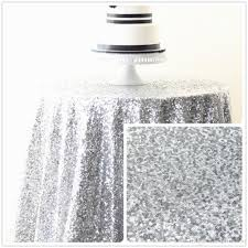 48 inch round silver sequin tablecloth for wedding holiday birthday party beautiful party sequin table cloth many colors available colorful tablecloths