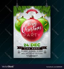 Christmas Party Flyer With Shiny