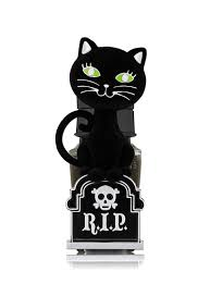 Bath And Body Works Halloween Night Light Details About Bath And Body Works Black Cat Tombstone Kitty Wallflower Plug In Nightlight