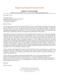 Psychology Internship Cover Letter Samples Sample Psychology Intern Cover Letter Edit Fill Sign Online