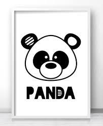 Printable Room Decor Panda Nursery Wall Art Printable Animal Nursery Print Panda Bear
