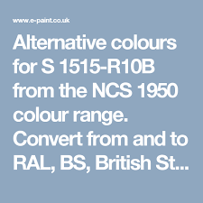 Alternative Colours For S 1515 R10b From The Ncs 1950 Colour