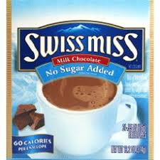 swiss miss no sugar added hot chocolate mix cocoa packets