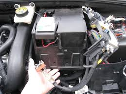 battery how to remove the plastic housing to reach it peugeot you can then remove the black plastic housing and the negative terminal can be reached if you want to remove the entire battery make sure