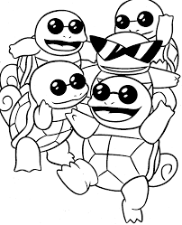 Pokemon Squirtle Coloring Pages Get Coloring Pages