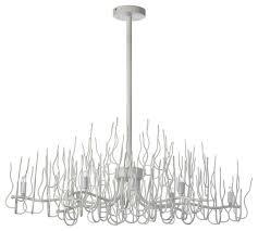 dainolite sophora 8 light oval twig chandelier matte white