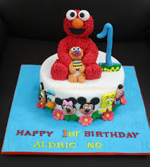 Elmo Cake For 1 Year Old Boy Jocakes