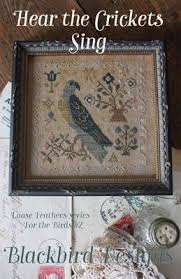 Blackbird Designs Cross Stitch Charts Hear The Crickets Sing Cross Stitch Chart
