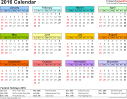 Editable 2015 2020 Calendar 2016 Calendar Download 16 Free Printable Excel Templates