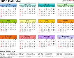 pdf printable calendar 2016 calendar pdf 16 free printable calendar templates