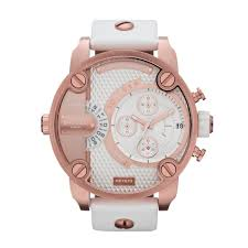 diesel littledaddy silver men s dz7271 leather watch diesel gold tone stainless steel men s watch dz7271