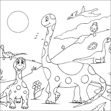Small Picture Dinosaur Coloring Page