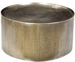 hammered steel drum coffee table gallerie noir