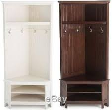 Hall Storage Bench And Coat Rack corner hall tree with storage bench My Web Value 96
