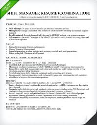 Shift Manager Resume Magnificent Fast Food Shift Manager Resume Templates For Bartenders