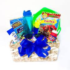my beach day gift basket blue