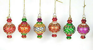 Details Zu 6er Set Christbaumschmuck Kugeln Zapfen Ornament Baumschmuck Glas Bunt Orient