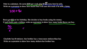 writing expressions from word problems 7th grade math you bunch ideas of 6th grade algebraic equations