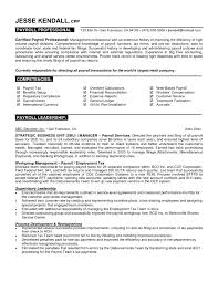 Free Resume Templates Professional Examples Payroll Intended For