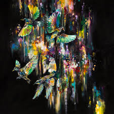 x series new arrival abstract birds oil painting on canvas hand painted abstract bird oil