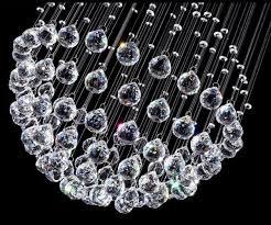 modern spiral crystal droplet cascading ceiling light pendant lamp chandelier 3899 pic uk