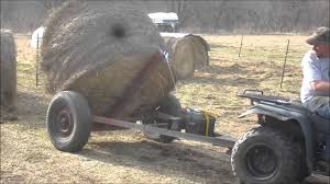 homemade hay bale spear dolly