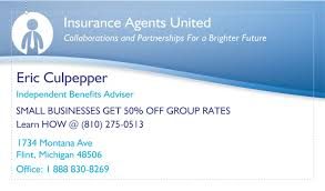 Michigan Template Insurance Business Card Mid – Health Advisors