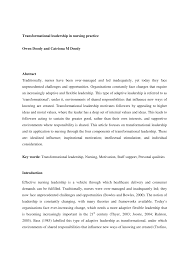 nursing leadership essay co nursing leadership essay