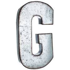 galvanized metal letter wall decor g