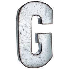 galvanized metal letter wall decor g
