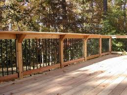 deck railing ideas. Fine Railing Cedar Deck Railing Ideas To Beautify The Throughout Design 9 Regarding  Designs Intended