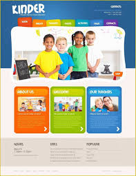 Kids School Website Template School Website Templates Free Of Kids Center Website