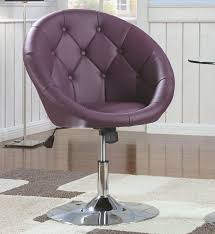 adjustable height chair. Modern Swivel Accent Chair With Adjustable Height Purple A
