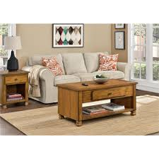 ameriwood san antonio tuscany oak storage coffee table