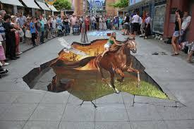 3d Sidewalk Chalk Art Interact With Pedestrians